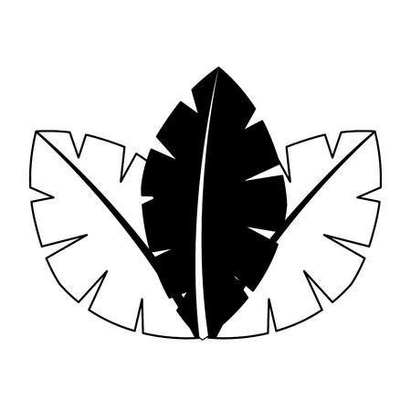 tropische bladeren van palmboom flora afbeelding vectorillustratie Stock Illustratie