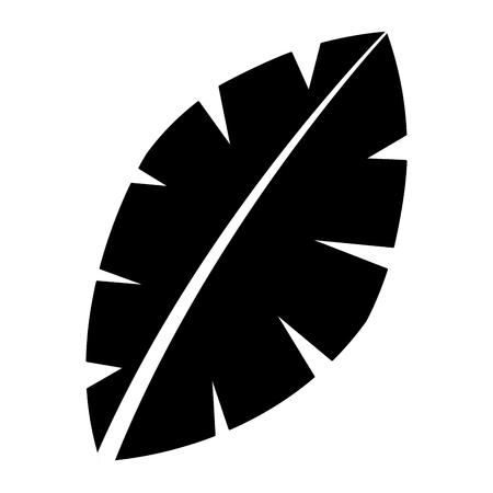 leaf palm tree foliage natural image vector illustration
