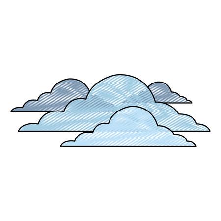 雲アイコン  イラスト・ベクター素材