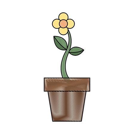 Fleur en pot Banque d'images - 90822822