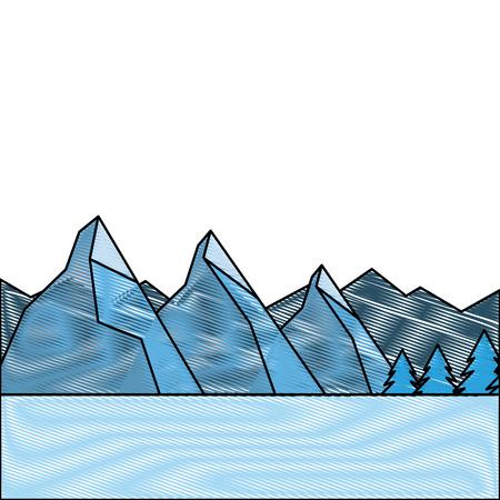 Landscape natural peak mountains