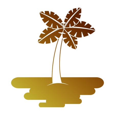 Tropical palm tree 向量圖像