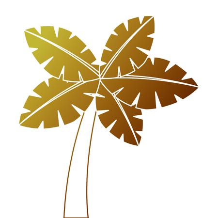 Tropical palm tree Illustration