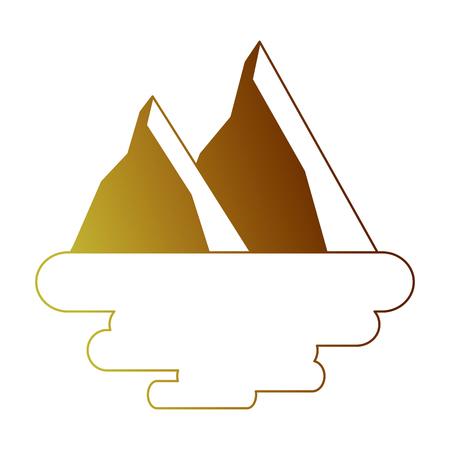 Two mountain land scene Ilustração