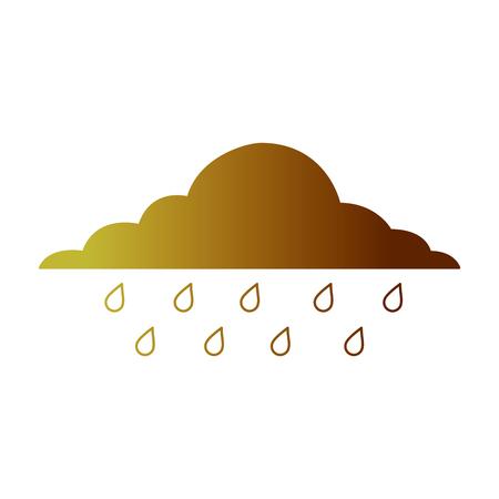 Wolk regenachtige hemel