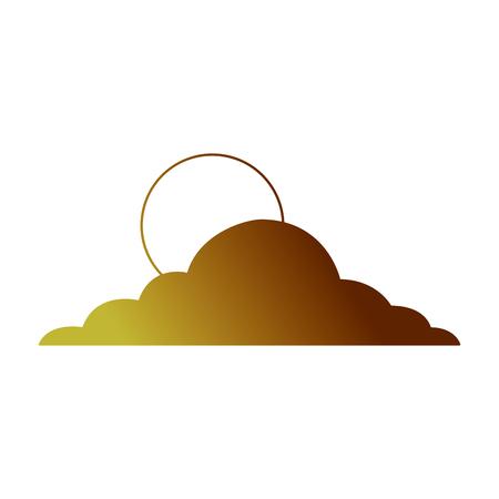 太陽雲の日空自然気候  イラスト・ベクター素材