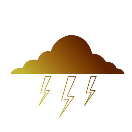 Cloud lightning bolt storm natural climate Illustration