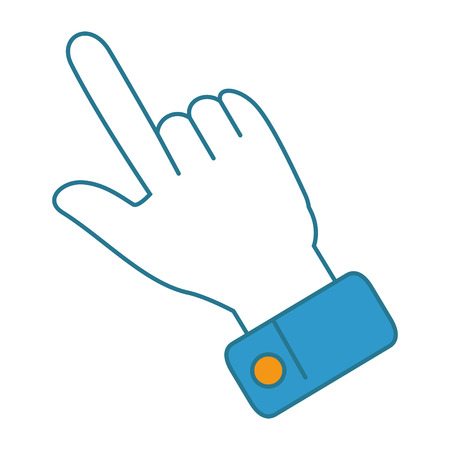 hand index isolated icon vector illustration design Illustration