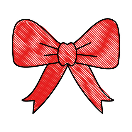 bowntie ribbon isolated icon vector illustration design Illustration