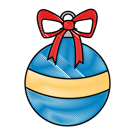 christmas ball hanging icon vector illustration design Stock Vector - 92038487