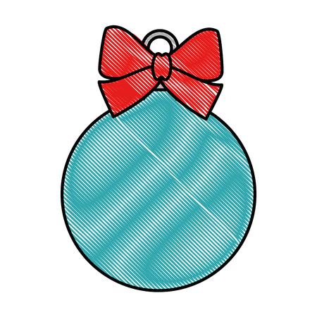 christmas ball hanging icon vector illustration design Stock Vector - 90811559