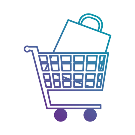Shopping cart with paper bag