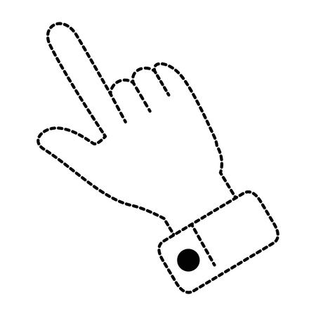 Icono de mano apuntando Foto de archivo - 90825497