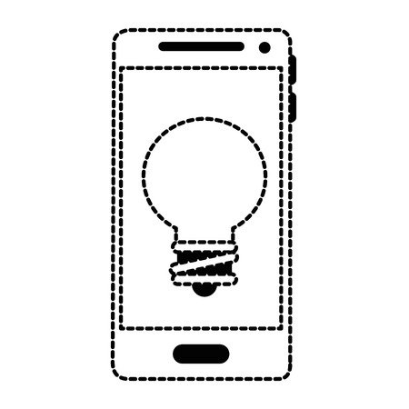 Mobile phone device with bulb