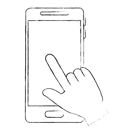 Hand with Mobile phone device