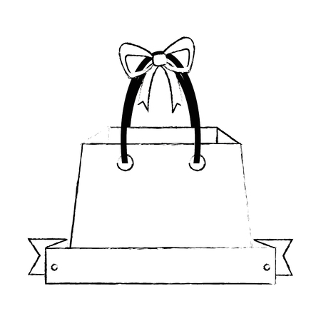 Shopping bag with ribbon