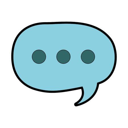 Speech bubble icon Illustration