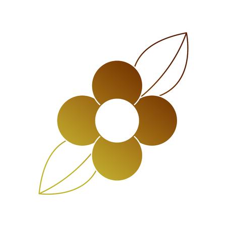flower leaves natural flora bloom icon vector illustration