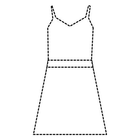 elegant feminine dress icon vector illustration design 向量圖像