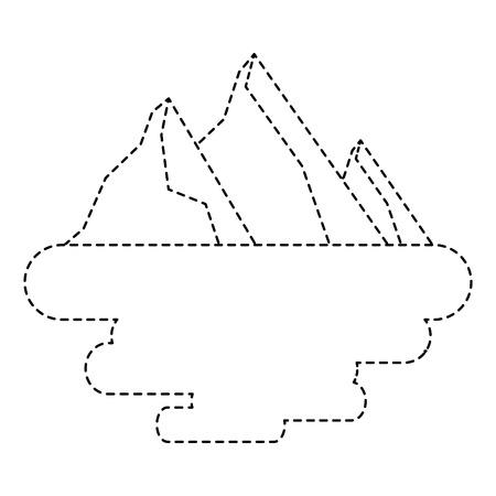 peak mountain snow landscape land scene vector illustration sticker