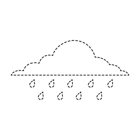 wolk regenachtige hemel voorspelling storm geïsoleerde pictogram vector illustratie sticker