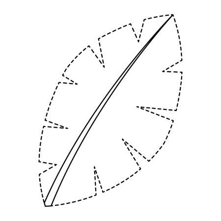 blad palm boom gebladerte natuurlijke afbeelding vector illustratie sticker Stock Illustratie