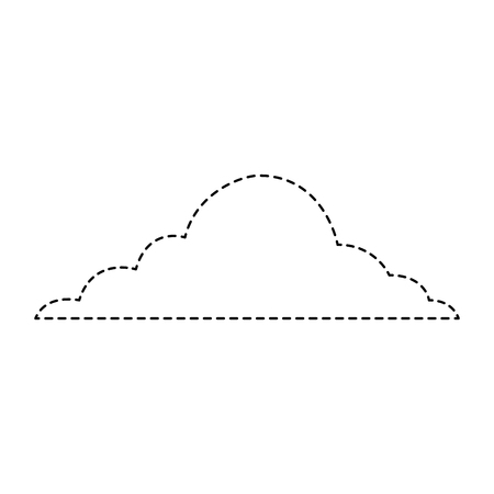 雲空天候積雲ビューシーンベクトルイラストステッカー  イラスト・ベクター素材