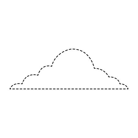 cloud sky weather cumulus view scene vector illustration sticker Illustration