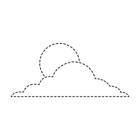 太陽雲の日空自然気候ベクトルイラストステッカー