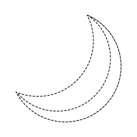 halve maan nacht hemelse natuurlijke afbeelding vector illustratie sticker
