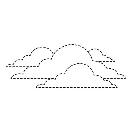 雲空気候曇りデイシーンベクトルイラストステッカー  イラスト・ベクター素材