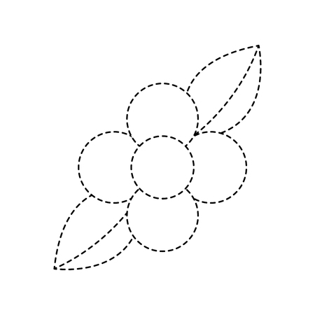 flower leaves natural flora bloom icon vector illustration sticker
