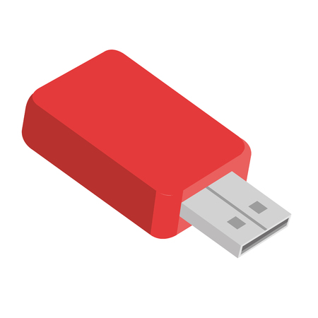 memory usb isolated icon vector illustration design Illustration