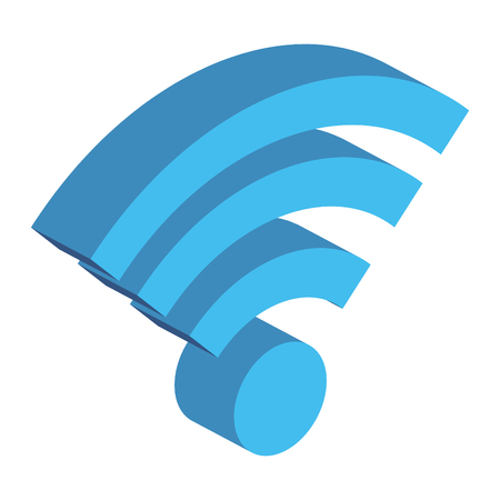wifi signal isolated icon vector illustration design