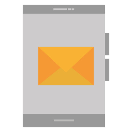 smartphone device with envelope vector illustration design Illustration