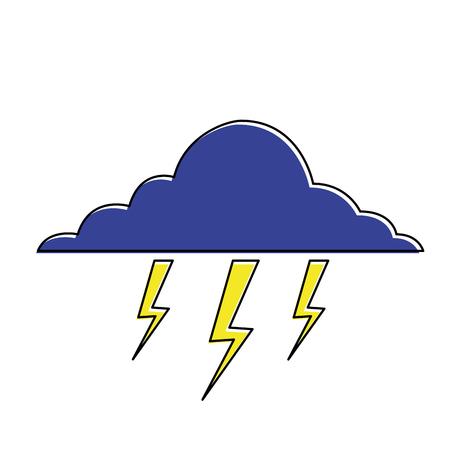 雲稲妻嵐自然気候ベクトルイラスト