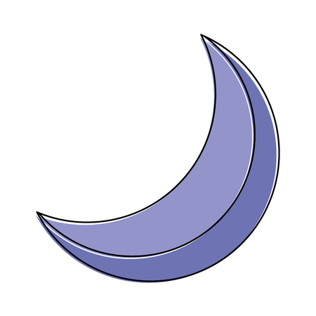 half moon night celestial natural image vector illustration Ilustrace