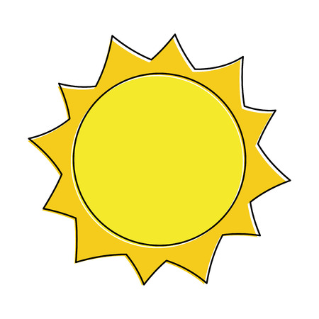 Sonne heiße Wetter Tag Himmel natürliche Vektor-Illustration Standard-Bild - 90828677