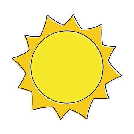 zon warm weer dag hemel natuurlijke vectorillustratie Stock Illustratie