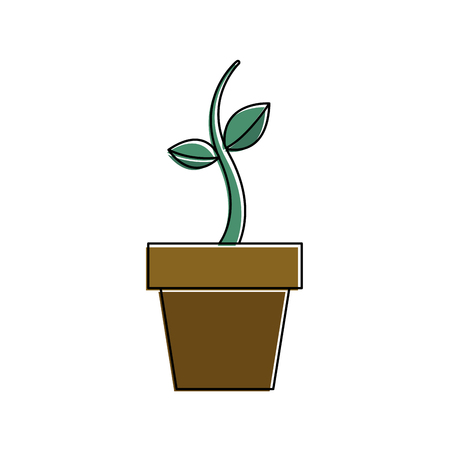 鉢植え成長植物自然植物植物ベクトルイラスト