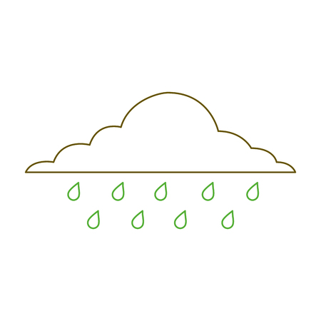 cloud rainy sky forecast storm isolated icon vector illustration green line