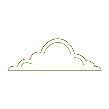 cloud sky weather cumulus view scene vector illustration green line
