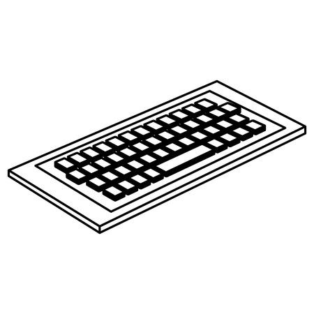 keyboard computer isometric icon vector illustration design Illustration