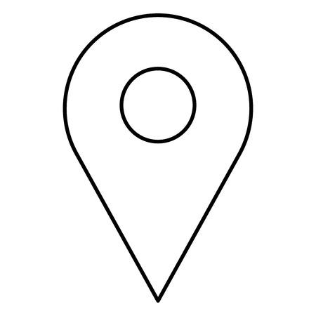pin aanwijzer locatie pictogram vector illustratie ontwerp