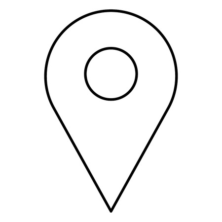 Pino ponteiro localização ícone vector ilustração design Foto de archivo - 90828896