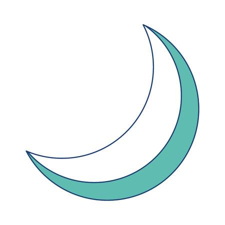 halve maan nacht hemelse natuurlijke afbeelding vector afbeelding groen Stock Illustratie