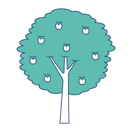 과일 사과 나무 농업 자연 식물학 벡터 일러스트 레이션 이미지 녹색 일러스트