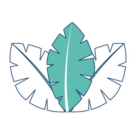 tropische bladeren van palm boom flora afbeelding vector afbeelding groen Stock Illustratie