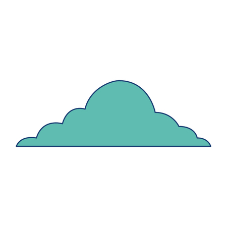 cloud sky weather cumulus view scene vector illustration image green