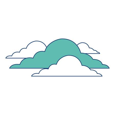 雲空気候曇りデイシーンベクトルイラスト画像グリーン